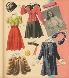 VINTAGE UNCUT 1942 RITA HAYWORTH PAPER DOLLS HD~LASER ORG SZ REPRODUCTION~LO P | eBay