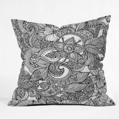 Amazon.com: DENY Designs Valentina Ramos Doodles Throw Pillow, 20-Inch by 20-Inch: Bedding & Bath