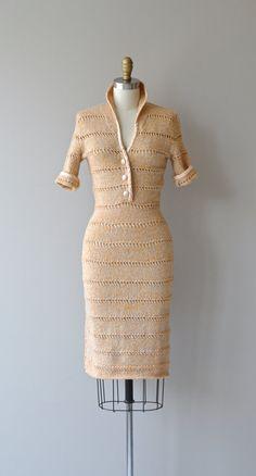 Objet Trouvé dress vintage 1950s knit dress wool by DearGolden