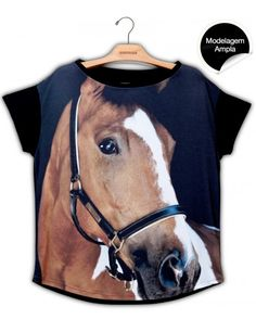 Blusa Premium Quadrada Cavalo Capitano #UseNatureza #JeffersonKulig