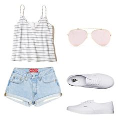 """""""Summer Feelings"""" by shizukami on Polyvore featuring Mode, Hollister Co. und Vans"""