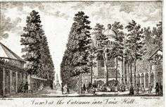 View at the Entrance into Vauxhall from The History and Survey of London. 1766 S Wale artist and T Simpson engraver