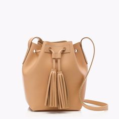 J Crew TASSEL TIE MINI BUCKET BAG IN LEATHER~natural vachetta~Brand new | Clothing, Shoes & Accessories, Women's Handbags & Bags, Handbags & Purses | eBay!