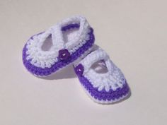 Crocheted Mary Jane Shoes Booties 0  3 Months by TheCrochetLady