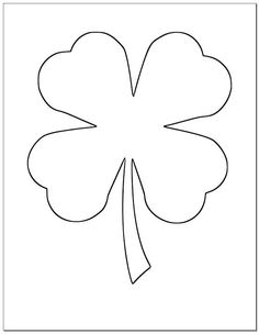 Free+Shamrock+template+to+create+a+craft+in+honor+of+the+Blessed+ ...