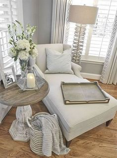 Ideas Bedroom Seating Area Reading Spot Chaise Lounges For 2019 My Living Room, Living Room Furniture, Living Room Decor, Home Furniture, Cozy Living, Small Living, Modern Living, Furniture Stores, Rustic Furniture
