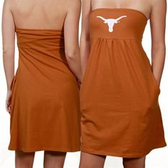 2b92a2b9e0 Texas Longhorns Ladies Burnt Orange Tube Dress