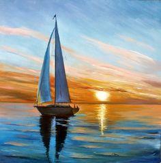 Calm Seas, Fair Winds – Arts d'Tryon Studio – Malerei Sailboat Art, Sailboat Painting, Sailboat Drawing, Sailboats, Landscape Art, Landscape Paintings, Pastel Art, Seascape Paintings, Ocean Art