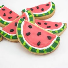 watermelon cookies | the decorated cookie