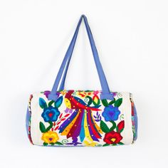 Ethnic Multi Colored Embroidered Barrel Travel Bag by salvagelife, $48.00
