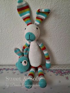 Mesmerizing Crochet an Amigurumi Rabbit Ideas. Lovely Crochet an Amigurumi Rabbit Ideas. Crochet Toys Patterns, Amigurumi Patterns, Crochet Dolls, Crochet Yarn, Free Crochet, Crochet Rabbit, Stuffed Animal Patterns, Crochet Animals, Crochet Projects