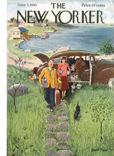 The New Yorker - Saturday, June 1950 - Issue # 1320 - Vol. 26 - N? 15 - Cover by : Garrett Price The New Yorker, New Yorker Covers, Vintage Comics, Vintage Art, Capas New Yorker, Magazine Art, Magazine Covers, Vintage Magazines, Illustrations And Posters