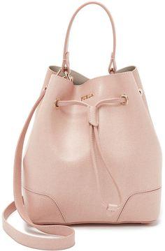 Bucket Bags, Pale Pink, Furla. Furla Stacy Small Drawstring Bucket Bag