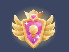 medal badge insignia emblem arming by gudi Flat Design Icons, Ios Design, Game Design, Game Icon, I Icon, Logo Concept, Concept Art, Logos Retro, Hero Games