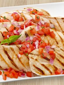 Marinated Chicken Bruschetta made with Wish-Bone Italian Dressing