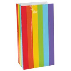 Rainbow stripe paper party bags http://www.wfdenny.co.uk/p/rainbow-stripe-paper-party-bags/6371/