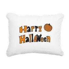 happy halloween orange white black Rectangular Can> Halloween> MehrFarbeimLeben Happy Halloween, Bed Pillows, Orange, Gifts, Black, Pillows, Presents, Black People, Favors