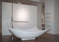 doesn't seem too practical, but an interesting shower tub