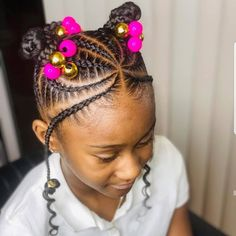 Kids Natural Hairstyles braids and cornrows Black Kids Hairstyles, Cool Hairstyles For Girls, Baby Girl Hairstyles, Kids Braided Hairstyles, Children Hairstyles, Little Girl Braid Hairstyles, Little Girl Braids, Braids For Kids, Girls Braids