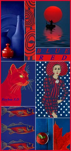 '' Blue & Red '' by Reyhan S.D.
