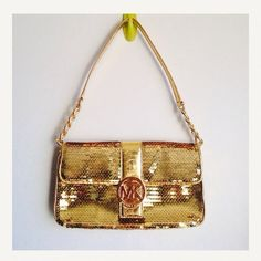 Michael Kors hot sparkling bag. Never worn with tag and MK dust bag Michael Kors Bags