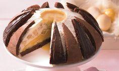 Eierlikör-Bananen-Kuppel Rezept: Eine cremige Torte mit Bananen und Eierlikör zu Ostern oder anderen Feiertagen - Eins von 7.000 leckeren, gelingsicheren Rezepten von Dr. Oetker!