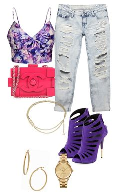 """""""Untitled #42"""" by iamdestinnny on Polyvore featuring Ally Fashion, Giuseppe Zanotti, Bony Levy, Wet Seal, Lacoste, Chanel, women's clothing, women, female and woman"""