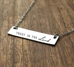 Trust in the Lord Necklace