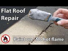 Flat Roof Leak Repair   Paint On Liquid Waterproof Sealant