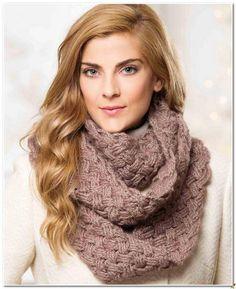 Шарф-снуд узором «Плетенка»   Вязание для женщин   Вязание спицами и крючком. Схемы вязания.