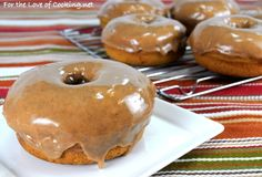 Baked Pumpkin Donuts with Maple-Cinnamon Glaze