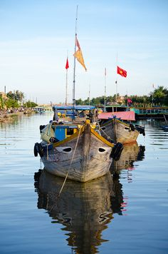 Thu Bon River, Hoi An, Quang Nam Province, Vietnam Le Vietnam, Vietnam Travel, Asia Travel, Cool Places To Visit, Places To Travel, Shanty Boat, Good Morning Vietnam, Beautiful Vietnam, Eastern Countries