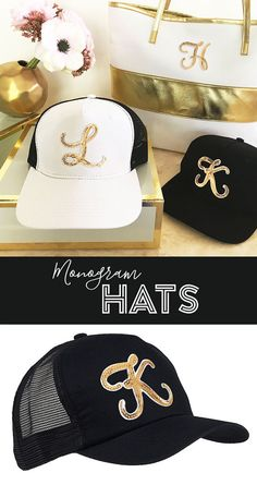 Bridesmaids Hats Bridesmaid Monogram Gift Ideas Bachelorette Party Hats Sorority Hats Monogram Hats Monogram Caps - by Mod Party Monogrammed Bridesmaid Gifts, Monogram Hats, Personalized Gifts For Her, Bachelorette Party Decorations, Hat Making, Party Hats, Maid Of Honor, Stockings, Trending Outfits