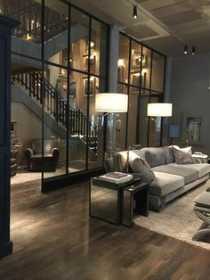 Luxury Loft Apartment Decor inspiration – Modern and Contemporary Interior Design Projects – luxury life Home Modern, Contemporary Interior Design, Contemporary Furniture, Luxury Furniture, Interior Modern, Garden Furniture, Modern Design, Contemporary Building, Kitchen Contemporary