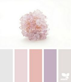 color palette - soft pinks, peach, gray, and lavender