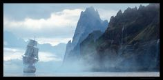 cinemagorgeous:  Incredibly gorgeous concept art for Assassin's Creed IV: Black Flag by artistRaphael Lacoste.