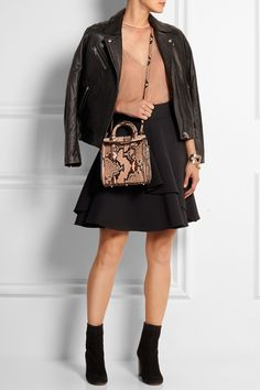 Alexander McQueen | The Heroine mini python shoulder bag | NET-A-PORTER.COM