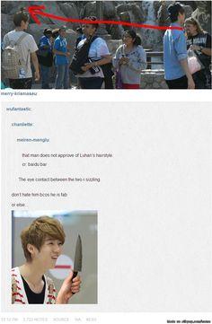 kekeke ok guy you better not hate on LULU's hair since his hair is forever beautiful and he will always look so manly~