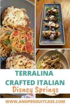 Terralina Crafted Italian Disney Springs - An Open Suitcase Pork Ragu, Wood Burning Oven, Orlando Travel, Romantic Meals, Pickled Red Onions, Eggplant Parmesan, Sandwiches For Lunch, Restaurant Offers, Dinner Entrees