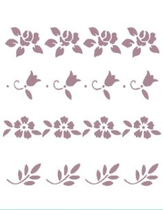 Plantilla de Stencil (15x21cm) V-153 Stencil Patterns, Embroidery Patterns, Stencils, Pencil Design, Wall Borders, Vinyl Projects, Flourish, Decoupage, Kids Rugs