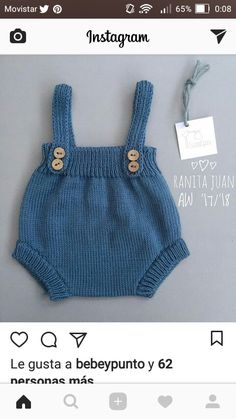 Knitted Baby Romper made with garter stich- DIY Pattern & Tutorial Baby Knitting Patterns, Baby Patterns, Hand Knitting, Knitted Baby Clothes, Knitted Romper, Crochet Baby, Knit Crochet, November Baby, Baby Cardigan