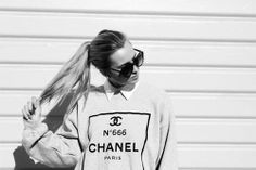 #chanel #paris #black #white #long #hair #beauty