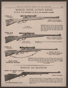 Marlin Model  LtdV Lever Action Rifle  GovtLoading