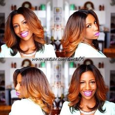 Honey blonde hair color ombre african american #colored women with colored hair