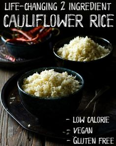 Easy Cauliflower Rice Recipe | Use cauliflower as rice and save time, carbs and calories. This easy cauliflower rice recipe will change your life!