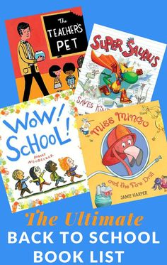 From the first day of school, making friends, creating a community, month-by-month read alouds, fitting in, books about names, and more.  You'll find it all on this back to school book list! #backtoschool #booksaboutschool #GrowingBookbyBook #teaching #booksforkids