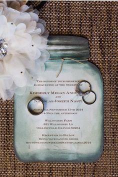 Fall Barn Wedding - Rustic Wedding Chic Featuring the Country Canning Jar wedding invitation from Invitations by Dawn