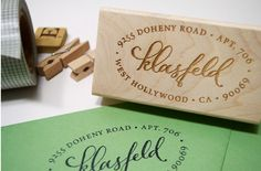 custom calligraphy stamps from plurabelle