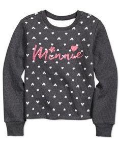 Disney's Minnie Mouse Sweater, Big Girls (7-16) - Gray M
