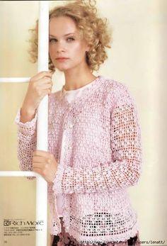 Kryuchok.Azhurnaya camisola rosa